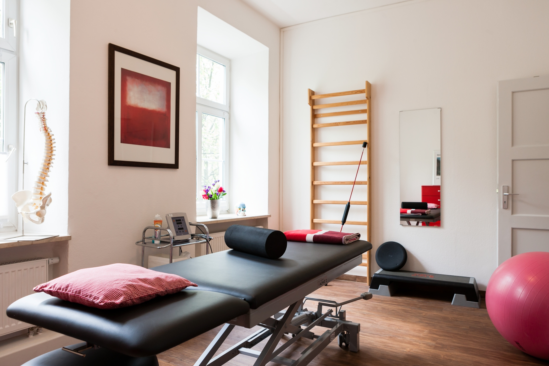 Behandlungszimmer Praxis für Osteopathie und Physiotherapie Schötz
